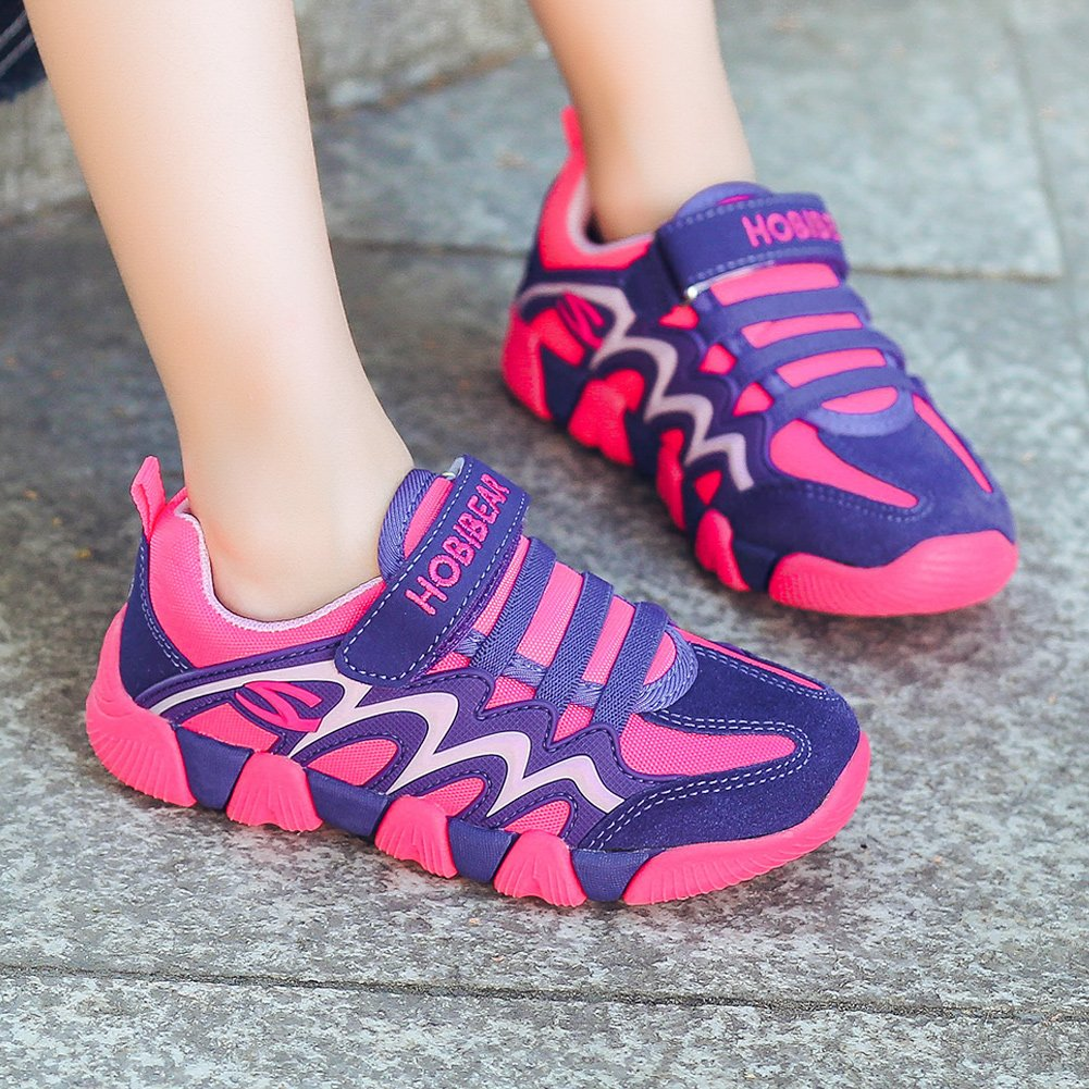 BODATU Boy's Girl's Sneakers Comfortable Running Shoes(Toddler/Little Kid/Big Kid) Fushia/Purple by BODATU (Image #6)