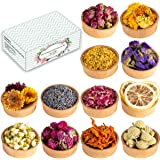 Dried Flowers, 12 Pack Natural Dried Flower Herbs Kit for Bath, Bomb, Soap, Resin, Candle Making, Include Rose Petals…