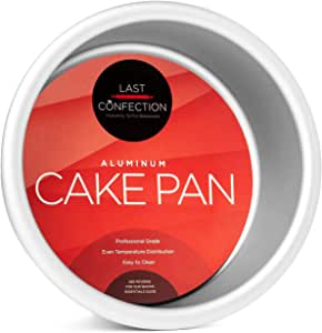 "Last Confection 4"" x 2"" Deep Round Aluminum Cake Pan - Professional Bakeware"