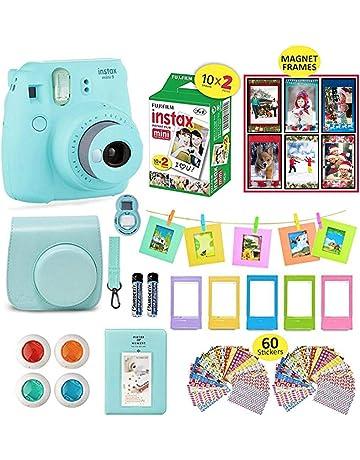 1a97cb58967a28 Fujifilm Instax Mini 9 Camera Bundle (Ice Blue) + Instant Camera Film 20  Sheets