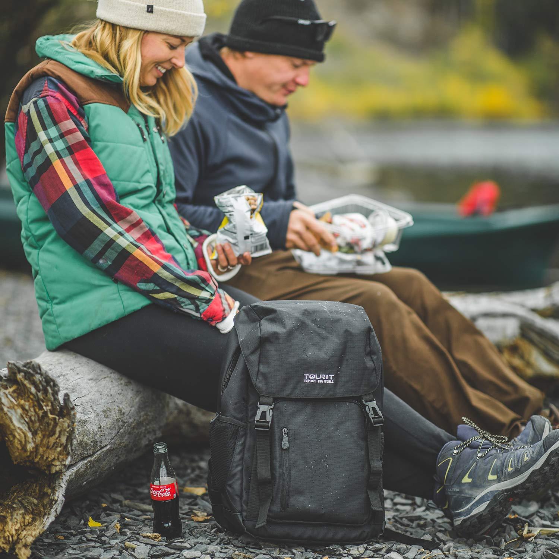TOURIT Mochila de Senderismo Nevera de 25 litros Viajes picnics Ligera y con abrebotellas para Camping Deportes