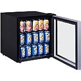 Costway 60 Can Beverage Refrigerator Portable Mini Beer Wine Soda Drink Beverage Cooler Black