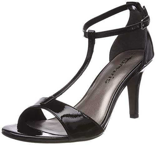 Womens 28392 Ankle Strap Sandals, Black Tamaris
