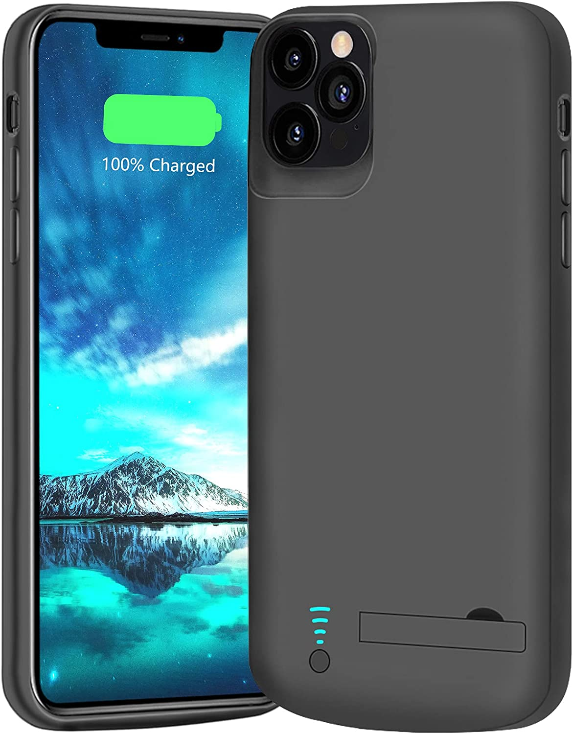 BAHOND Battery Case for iPhone 12 & iPhone 12 Pro, 5000mAh Rechargeable Extended Battery Charging Charger Case, Add 100% Extra Juice, Support Wire Headphones (6.1 inch)
