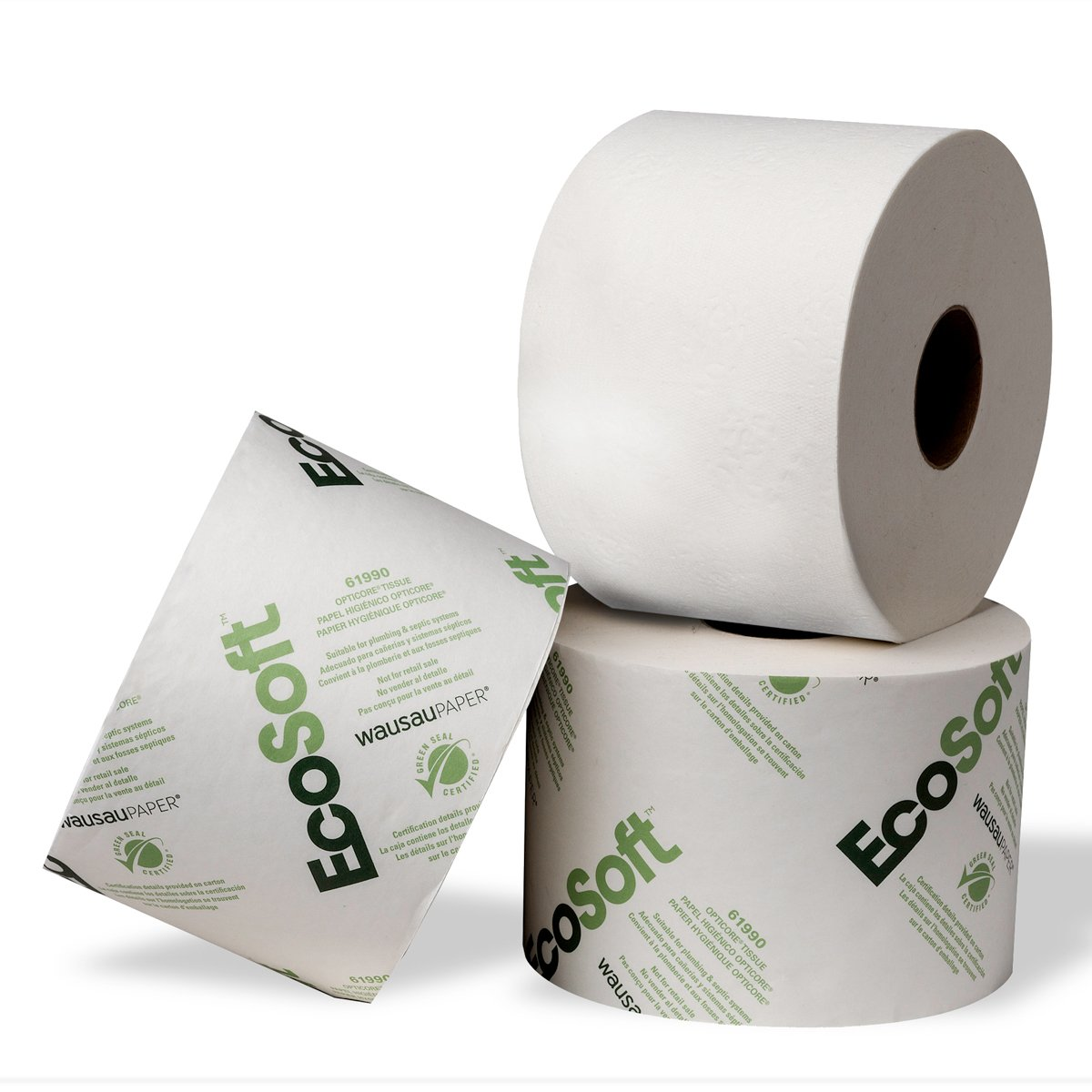 EcoSoft 1 Ply Toilet Roll 1250 Sheets 143m - Pack of 36 Bay West