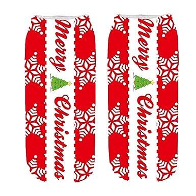 Calcetines Mujer Divertidos Invierno Antideslizantes Dibujos Animados Navidad Loco Lindo IncreíBle Novedad Imprimir Tobillo Calcetines (