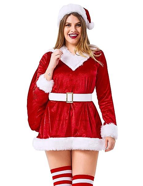 US STOCK Girls Dress Christmas Santa Reindeer 2-in-1 Top Dress Size 2-8