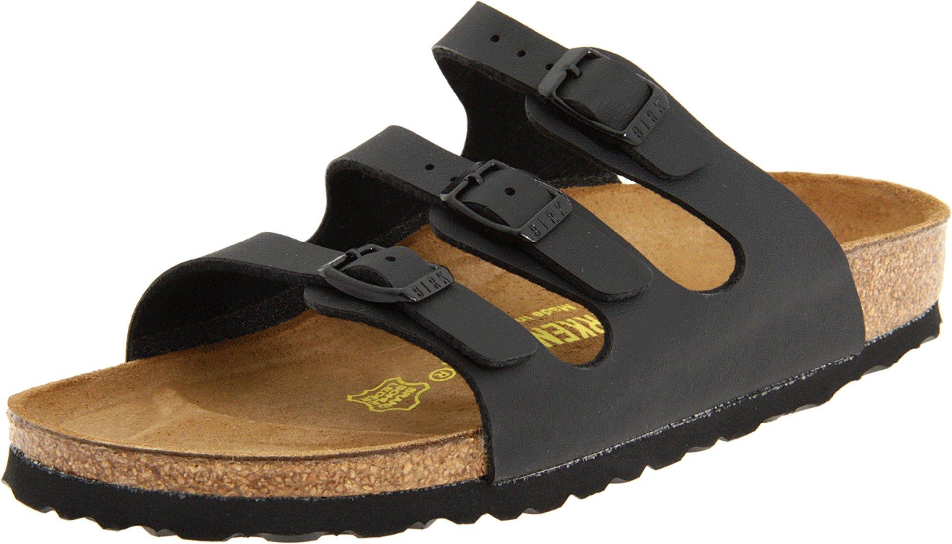 Birkenstock Women's Florida Sandals,Black,38 N EU / 7-7.5 AA(N) US