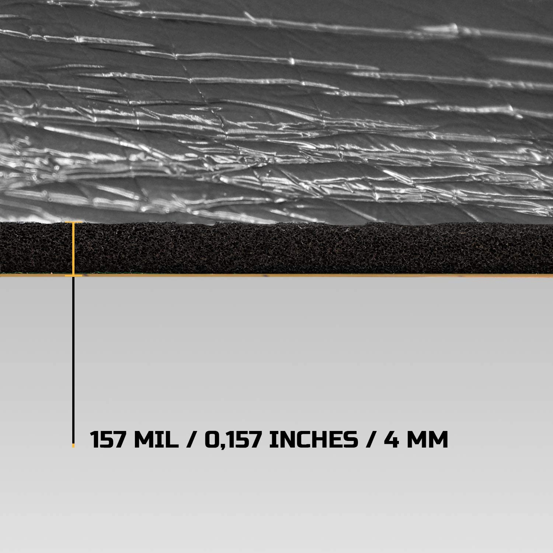 Siless Liner 157 mil 15 sqft Aluminum Foil Finish Sound Deadening Mat