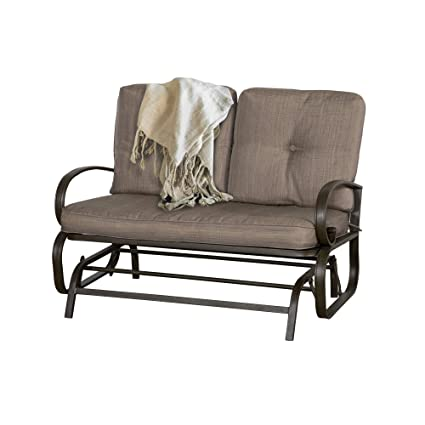 Amazon.com : Wilcum Patio Loveseat Patio Glider Outdoor Loveseat ...