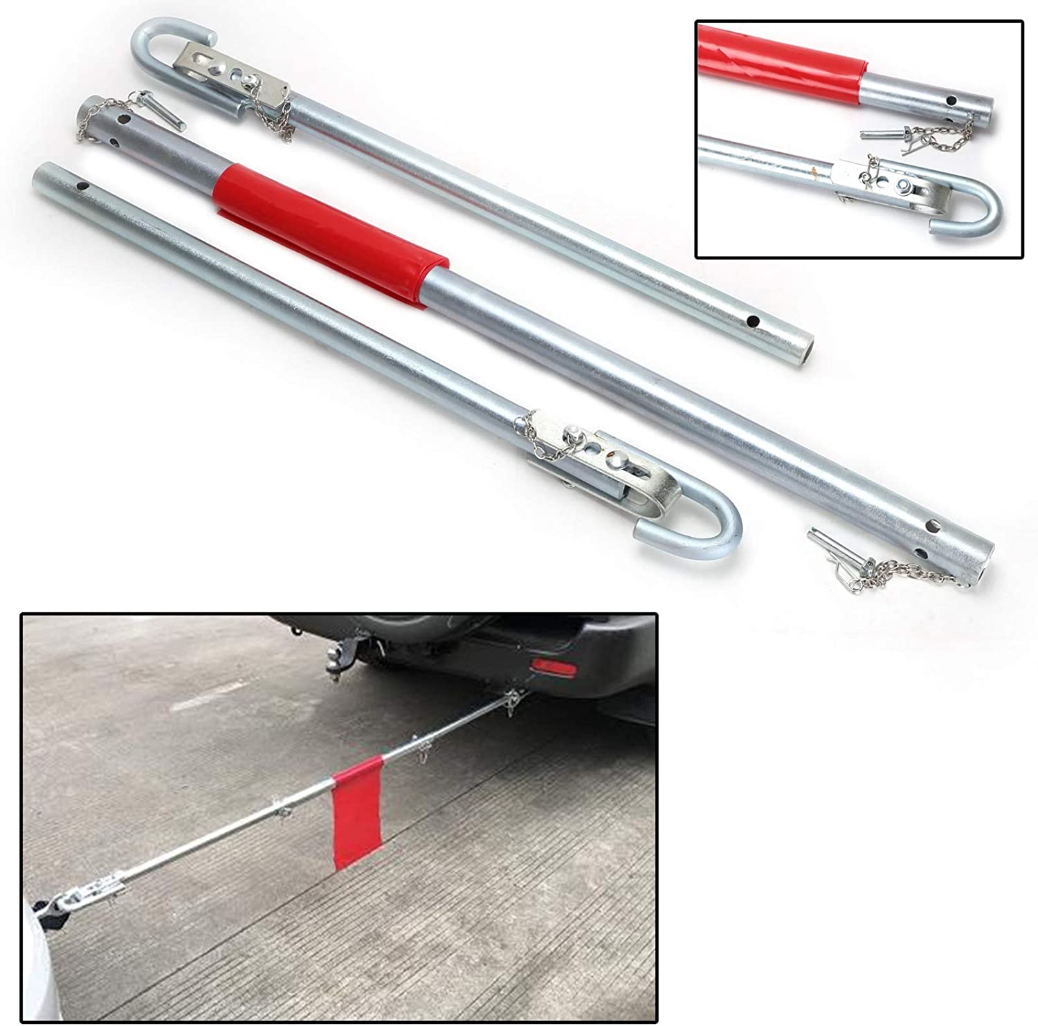 50 100mm Heavy Duty Vehicle Emergency Breakdown Rescue Ball Coupling Holdfiturn 2 Ton Recovery Tow Bar 1000