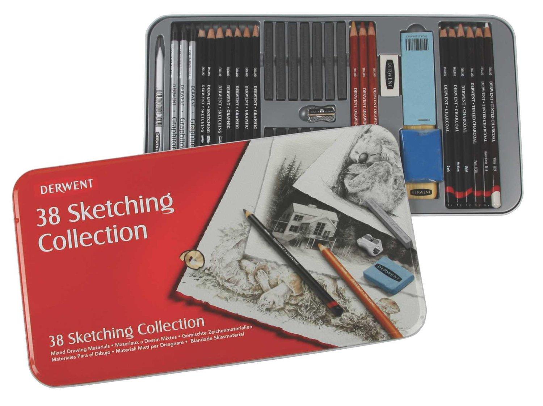Derwent Sketching Collection, Metal Tin, 38 Count (34307)