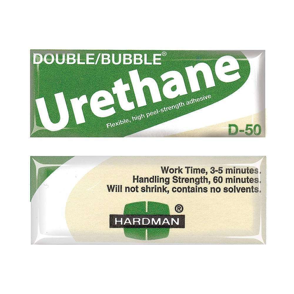 Hardman/Kalex #04022 - Double Bubble Urethane Adhesive Green/Beige-Label D50 High Shear Strength - 10-Pack by double bubble (Image #2)