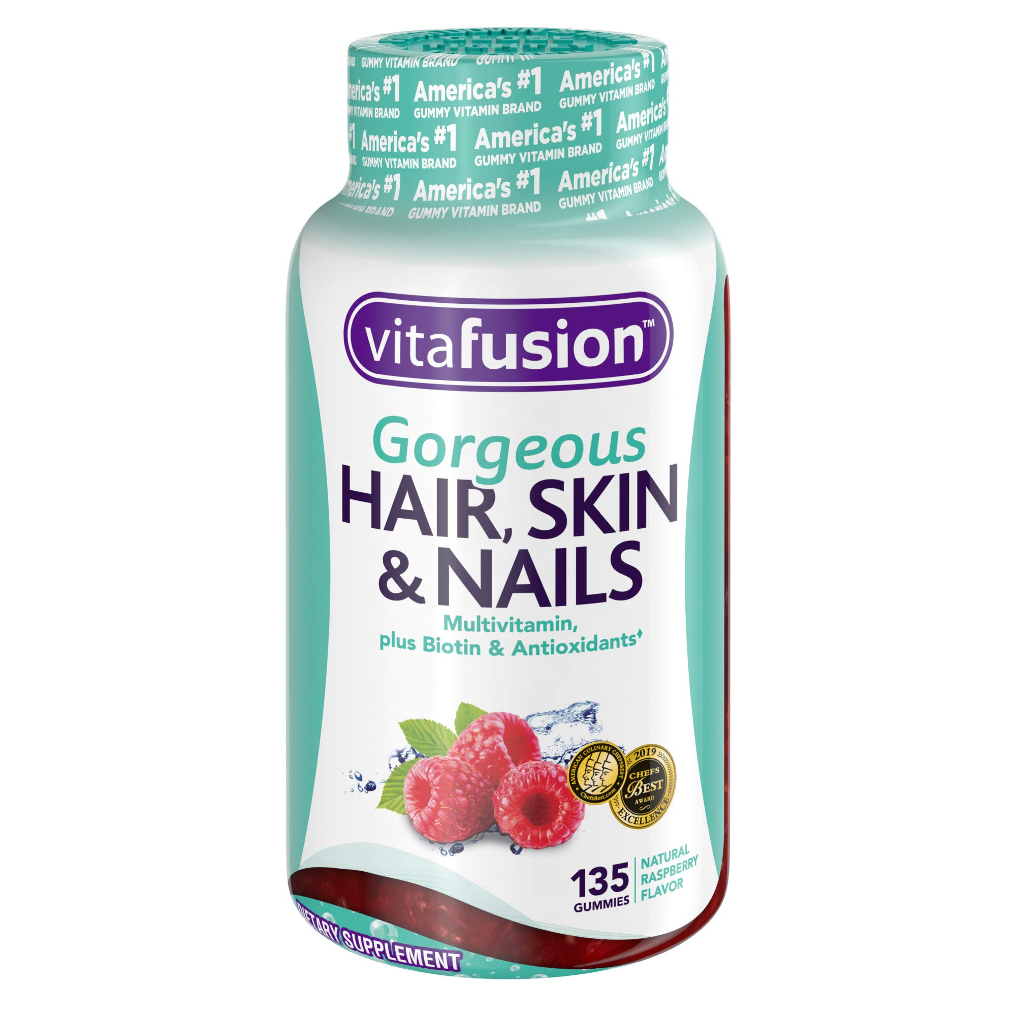 Vitafusion Gorgeous Hair, Skin & Nails Multivitamin Gummy Vitamins ...