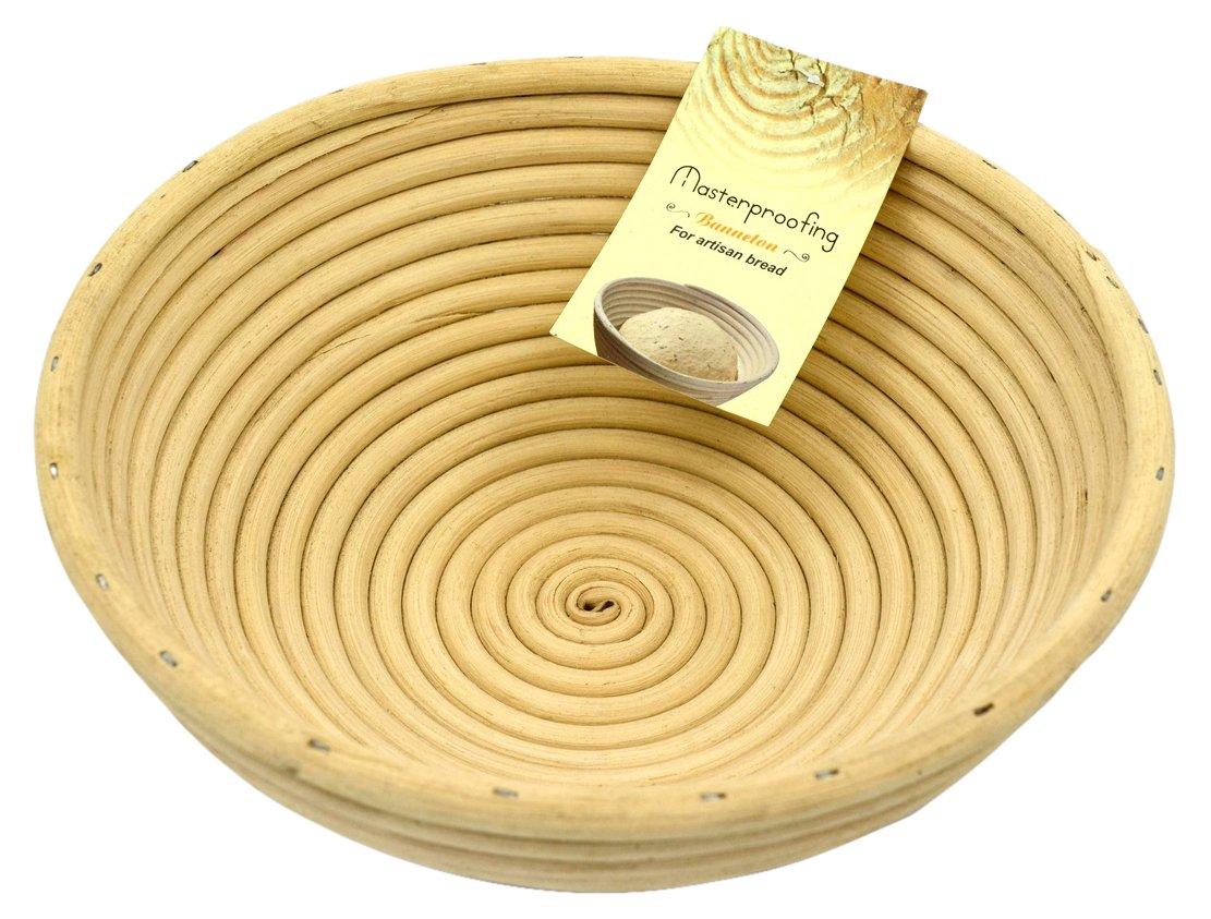 Masterproofing Round Benetton Proofing Basket, 10'' L by Masterproofing