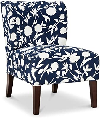 Amazon Com Mainstays Amanda Armless Accent Chair Navy