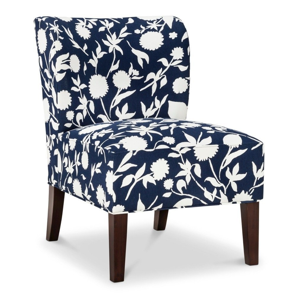 Amazon.com: Scooped Back Chair   Threshold NAVY FLORAL 15102600: Kitchen U0026  Dining