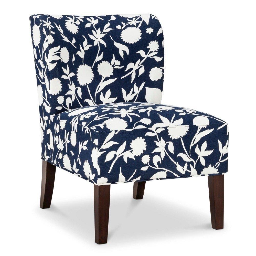 Attirant Amazon.com: Scooped Back Chair   Threshold NAVY FLORAL 15102600: Kitchen U0026  Dining