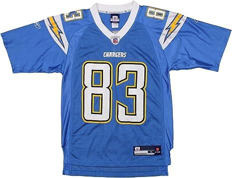 Reebok San Diego Chargers Vincent Jackson #83 NFL Mens Vintage Alternate Replica Jersey, Blue