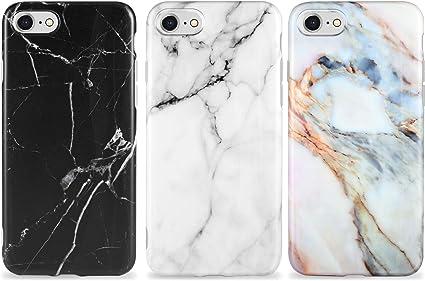 AROYI [3 Pack Cover iPhone SE Custodia Marble, Silicone Morbido Ultra Slim Case con Motivo in Marmo per iPhone 7/8/ SE(2020)