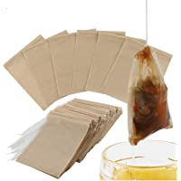 300PCS Tea Filter Bags, Disposable Paper Tea Bag with Drawstring Safe Strong Penetration Unbleached Paper for Loose Leaf Tea and Coffee(6x8CM)