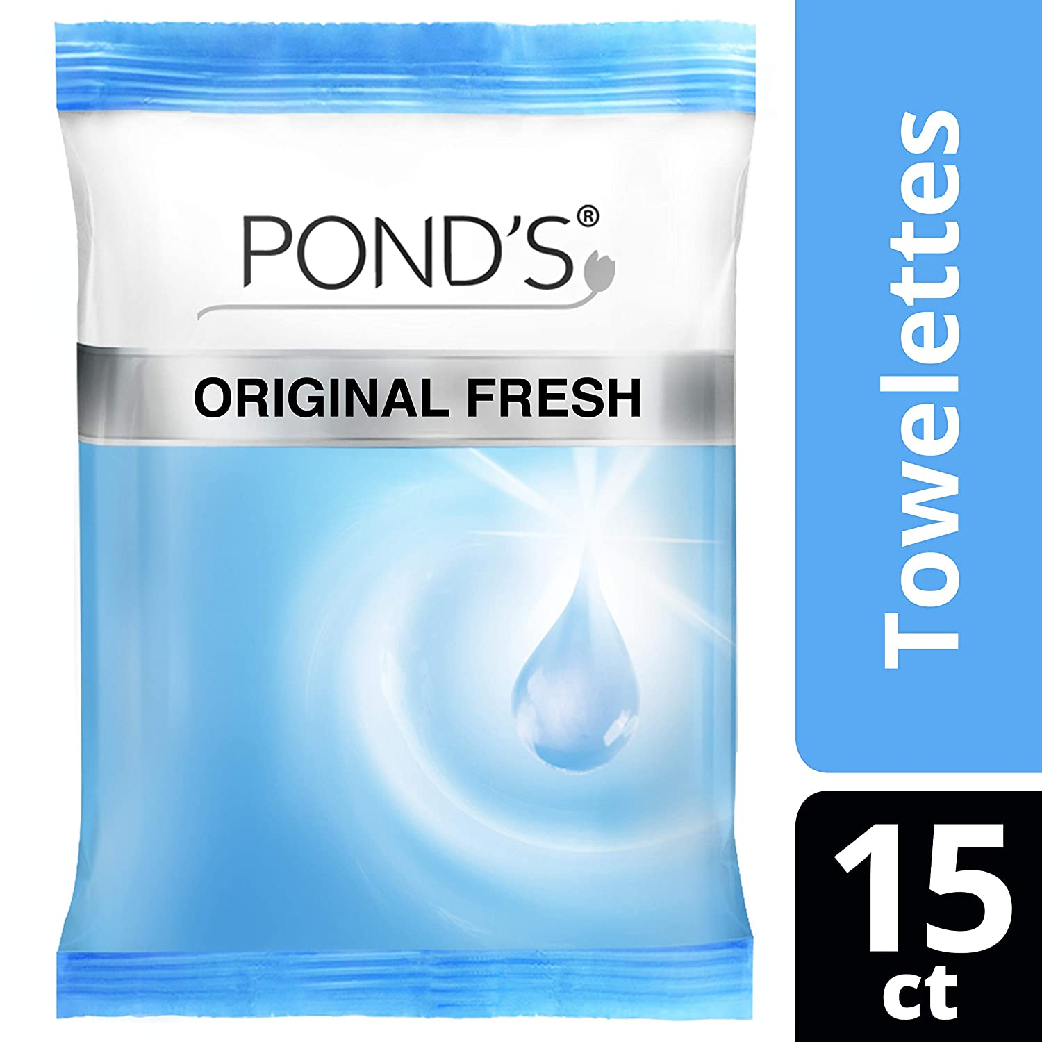 Ponds Moisture Clean Towelettes, Original Fresh 15 ct by Ponds ...