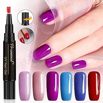 8608f6bbc70 Amazon.com  Vrenmol One Step Gel Nail Polish Pen