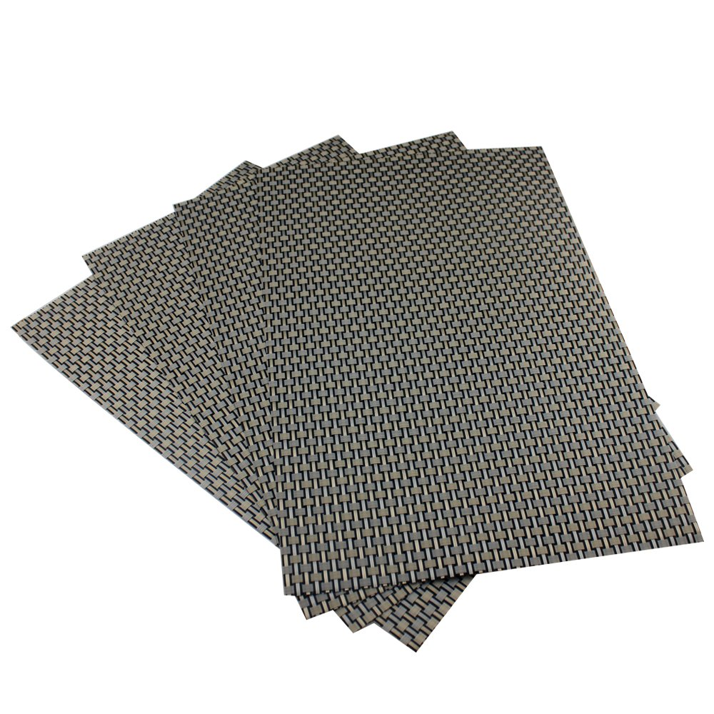 Amazon: Placemats, Heatresistant Placemats Pvc Placemats Woven Vinyl  Placemats Stain Resistant Antiskid Nonslip Table Mats,set Of  4(grey+gold): Home