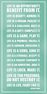 Mother Teresa Life Inspirational Motivational Quote Poster Print, Unframed  12 By 24