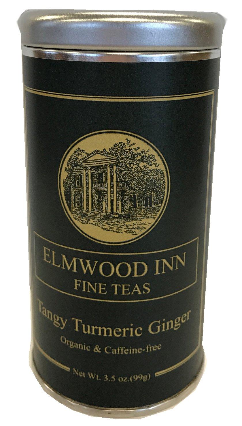 Elmwood Inn Fine Teas - Tangy Tumeric Ginger - Loose Leaf 3.5 Ounce Tin, Organic & Caffeine-Free