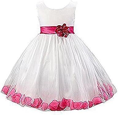 Live it estilo it niña 1 Rosa de tul vestido diseño de pétalos de flor princesa sin mangas formal boda fiesta dama: Amazon.es: Ropa y accesorios
