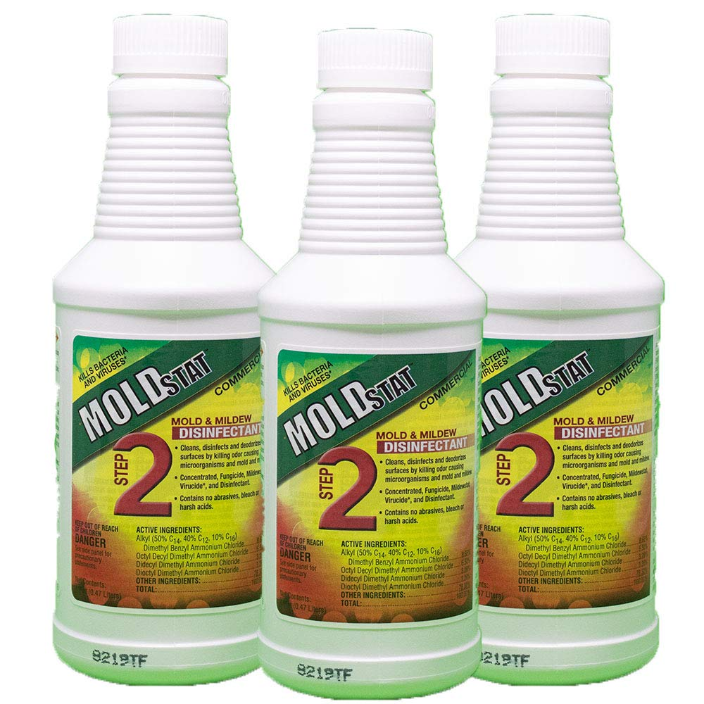 Moldstat Step 2 Commercial Mold & Mildew   Disinfectant, 16 ounce (3) by Theochem