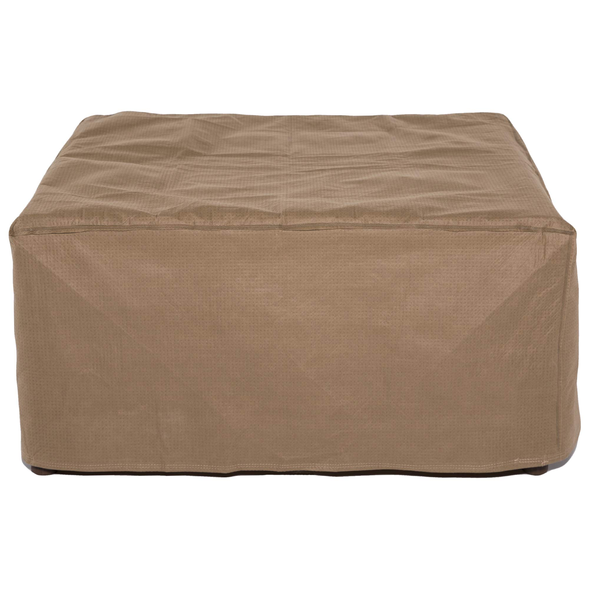Duck Covers Essential Rectangular Patio Ottoman or Side Table Cover, 52'' L x 30'' W x 18'' H