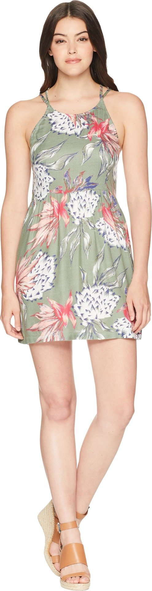 Roxy Junior's Antelope Curves Dress, Olive House of The Sun, M