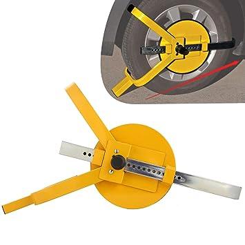 Cepo de rueda, garra pesada de tipo calce, candado antirrobo para coche, camión, moto, remolque: Amazon.es: Coche y moto