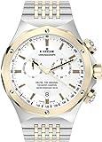EDOX - 10106 357J AID - Montre Mixte - Quartz Analogique - Luminescent/Chronomètre - Bracelet Acier Inoxydable Argent