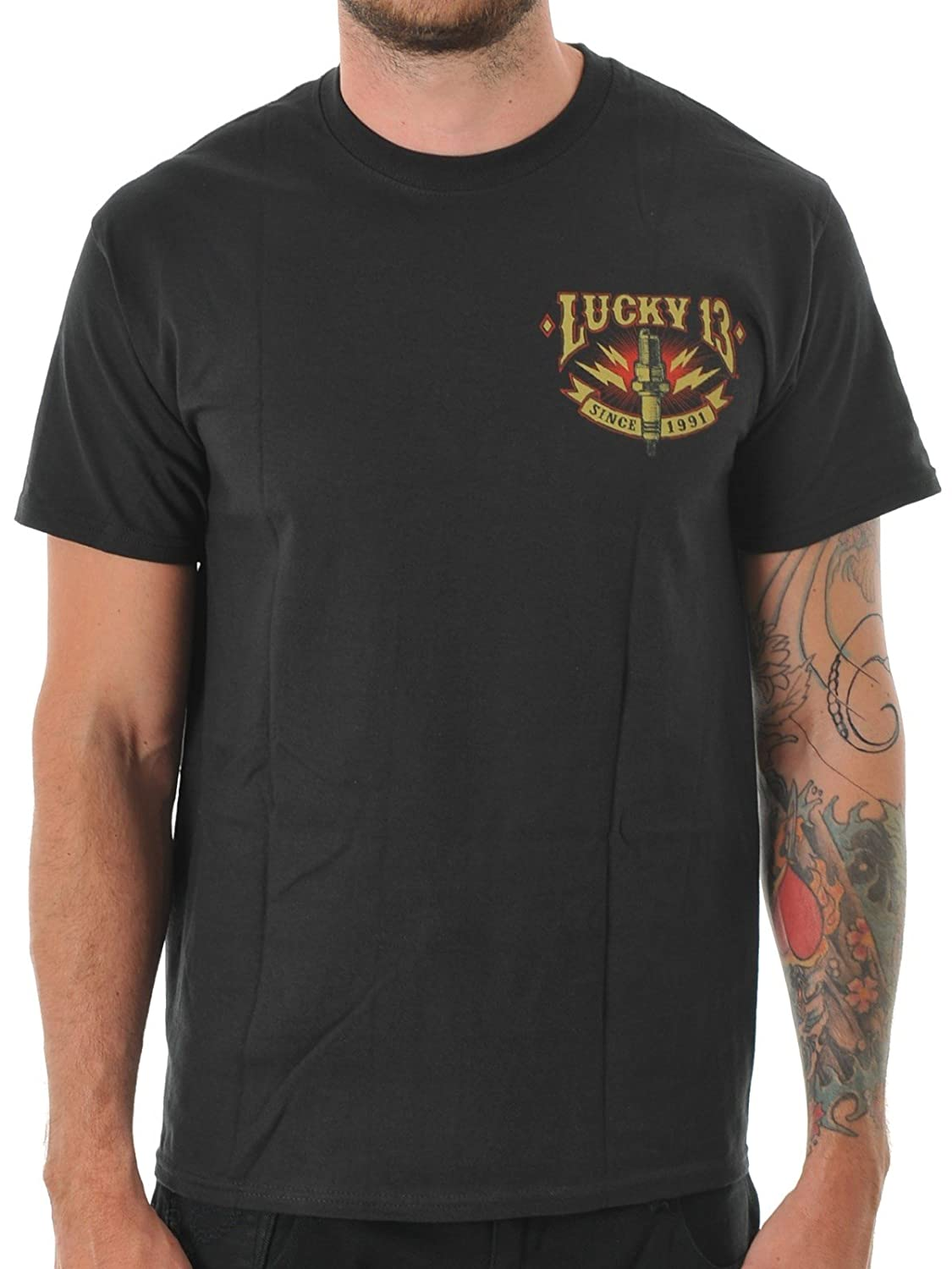 Lucky 13 Black Amped T-Shirt