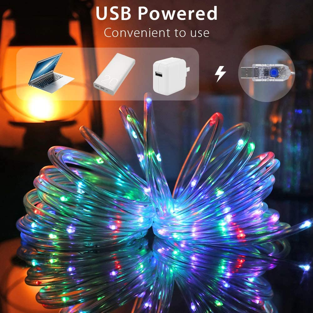 lichterkette Drau/ßen 16 Farben 4 Modi mit Fernbedienung /& Timer MAKEASY LED Lichtschlauch 10M 100LED mit USB IP65 Wasserdicht Bunt Lichterschlauch f/ür Weihnachten Party Balkon Hochzeit Deko.