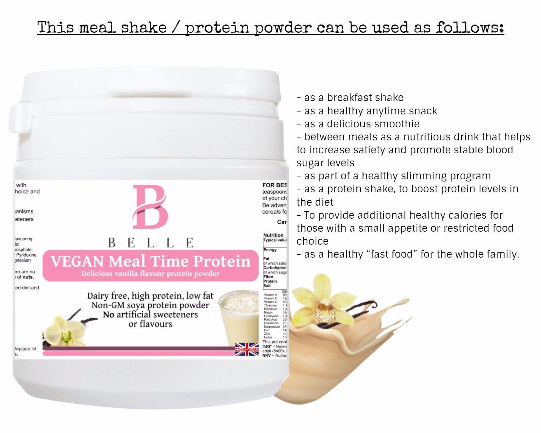 ... comidas Protein Powder - Delicious Vanilla Flavour Shake - sin productos lácteos, sin gluten y veganas - Agente de pollo sin aislar de soja GM - buena ...