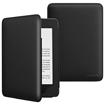 reputable site 2cc00 872e5 MoKo Case Fits All-New Kindle 10th Generation 2019 Release, Lightweight  Protective Shell Cover with Pocket, Not Fits Kindle Paperwhite - Black