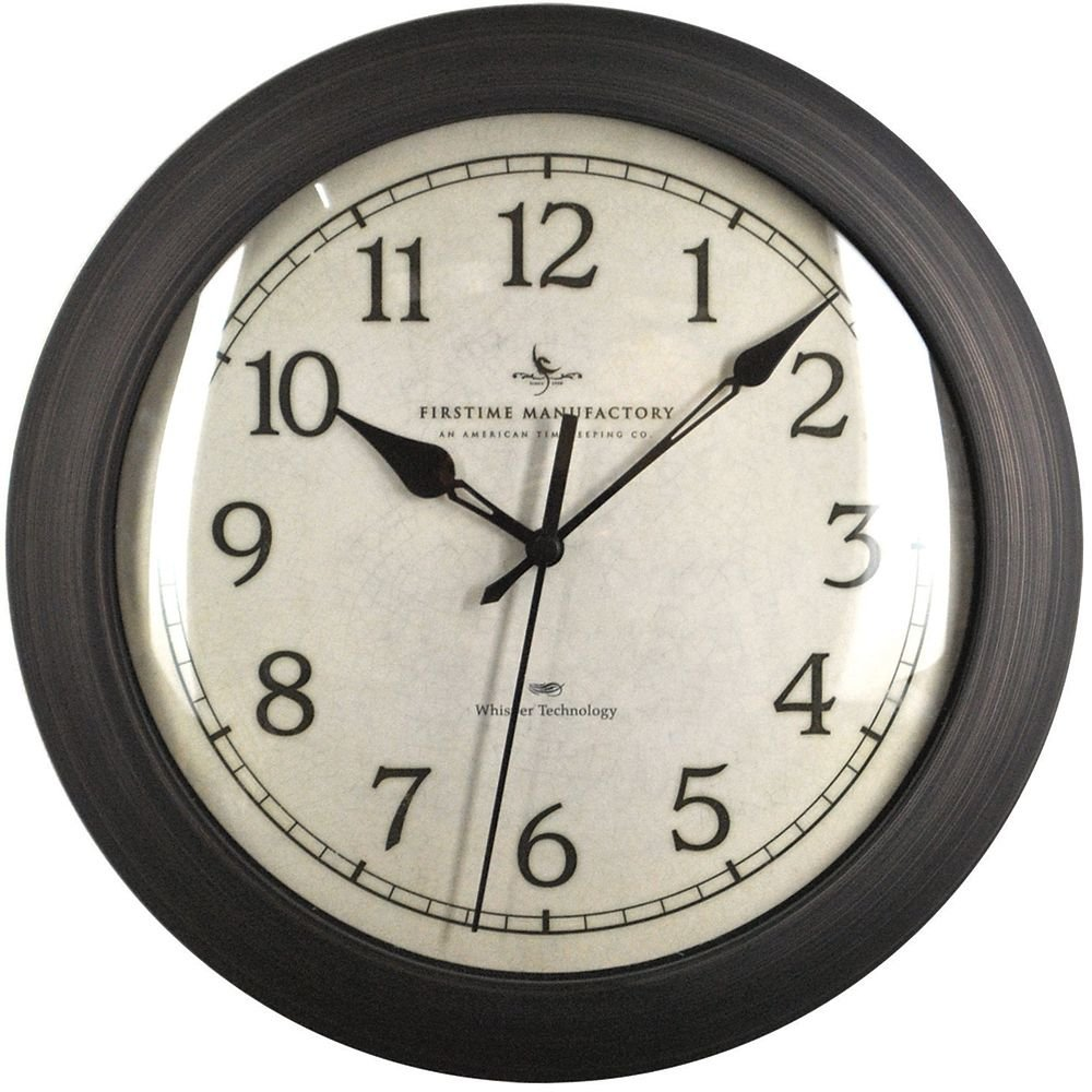 Slim Wall Clock with Whisper Technology - 11'' Oil Rubbed BronzeDimensions: 2''D x 11'' Diameter Weight: 2 lbs.
