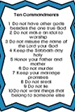 "Ten Commandments - 10 Commandments for Kids Poster Art Print 20"" x 30"""