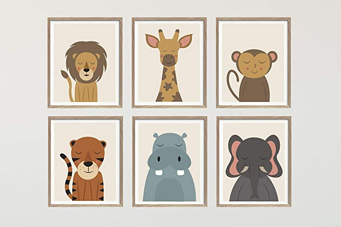 FUNKY DUMMY A4 Safari Jungle Animal Nursery Print Baby Room Pictures Wall Art Decor 12. Giraffe