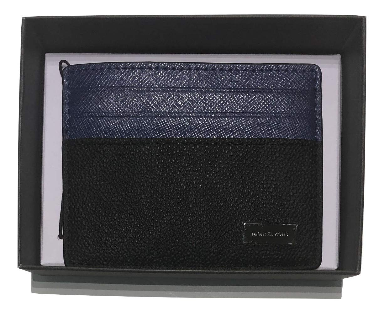 Michael Kors Jet Set Tall Card Holder Case (Ultramarine/Black)
