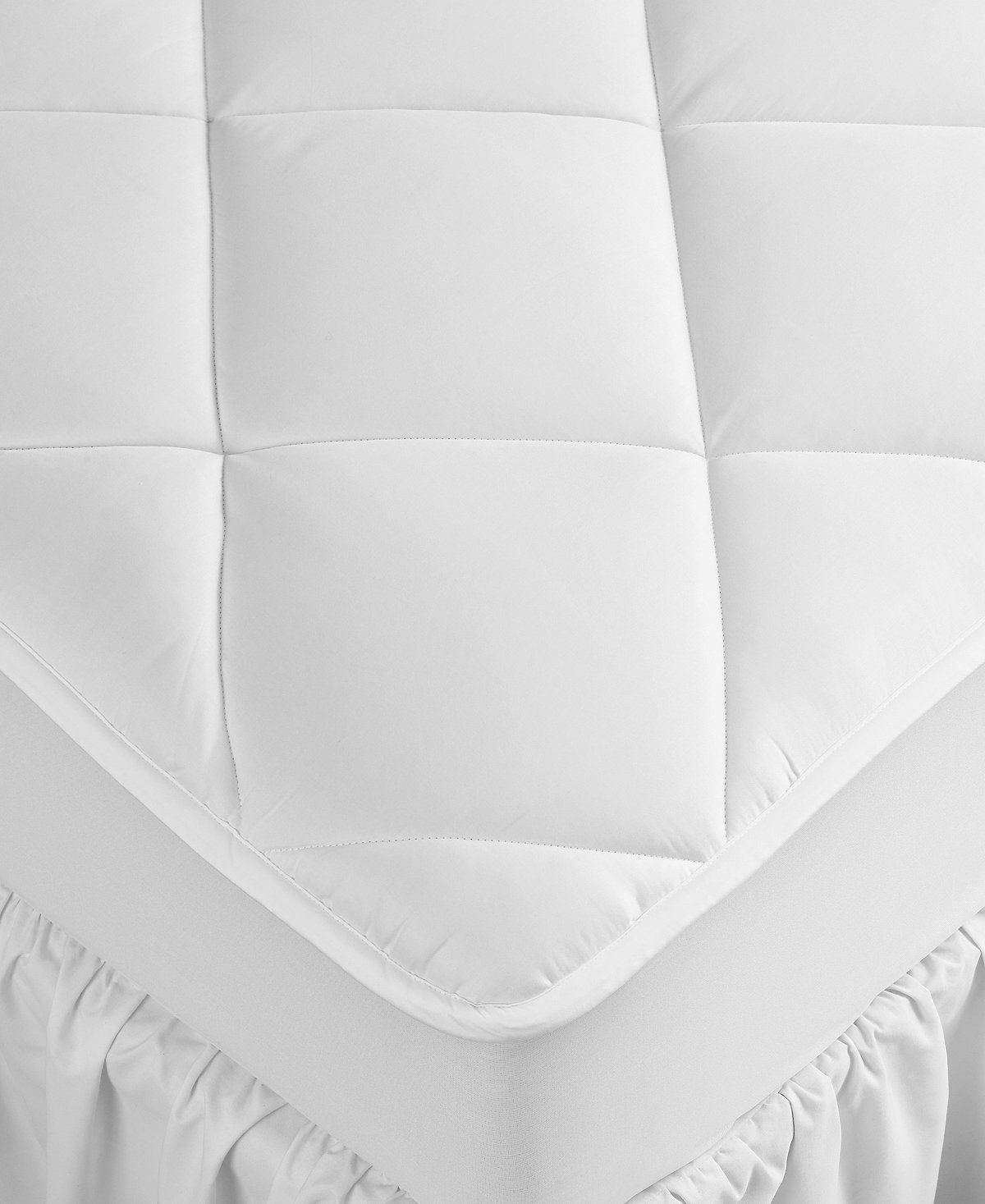 Hotel Collection Extra Deep King Mattress Pad, Hypoallergenic, Down Alternative Fill, 500 Thread Count Cotton