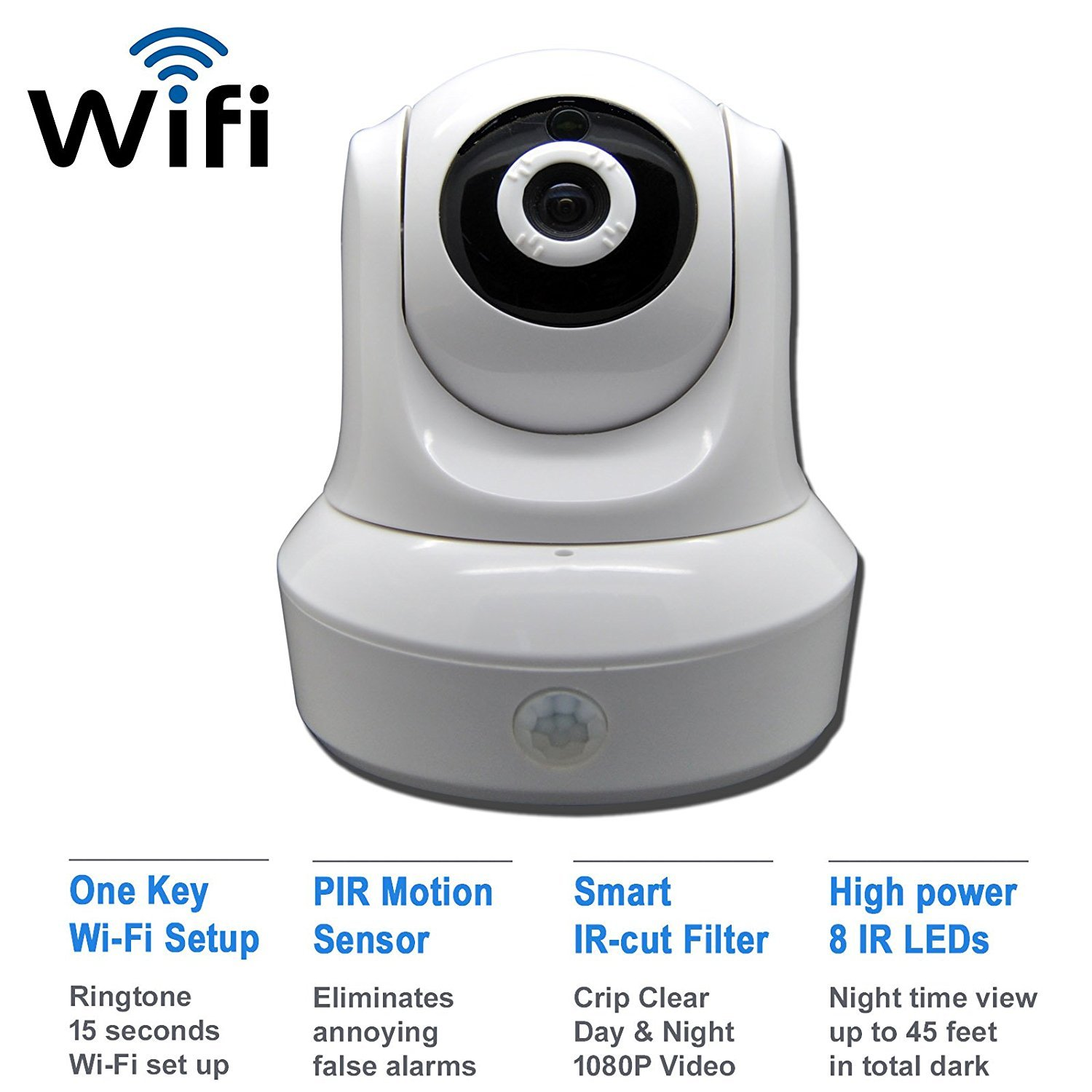 Amazon customer reviews motorola focus66 wi fi hd - Amazon Com Ismart Wifi 720p Hd Ir 2 Pan Tilt Ip Smartphone Security Surveillance Camera