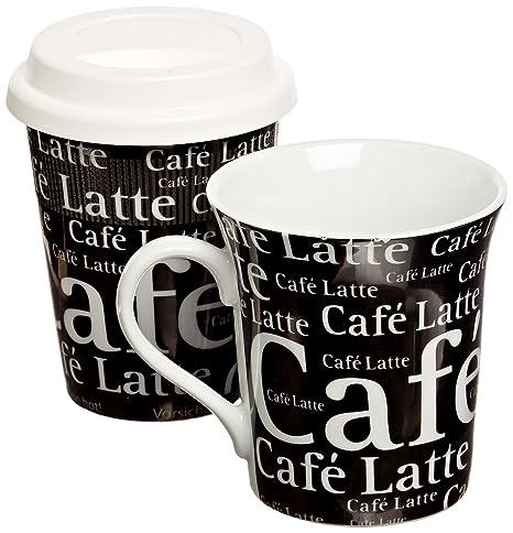 Amazon.com: KONITZ to stay/GO tazas, Cafe Latte Negro ...