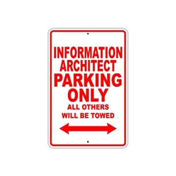 Información Arquitecto Parking Only Regalo Decor Novedad ...