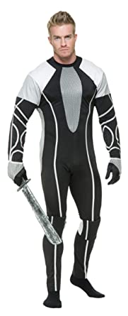 MyPartyShirt Survivor Jumpsuit Adult Costume -Adult Small  sc 1 st  Amazon.com : peeta and katniss costumes  - Germanpascual.Com