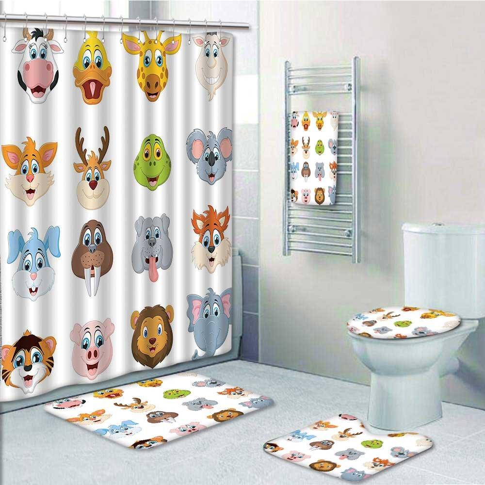 durable modeling Designer Bath Polyester 5-Piece Bathroom Set, Comic ...